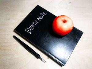Декорирование обложки ежедневника в «Death Note». Ярмарка Мастеров - ручная работа, handmade.
