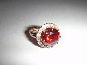 Видео Кольцо Красный Фианит. Ярмарка Мастеров - ручная работа, handmade.