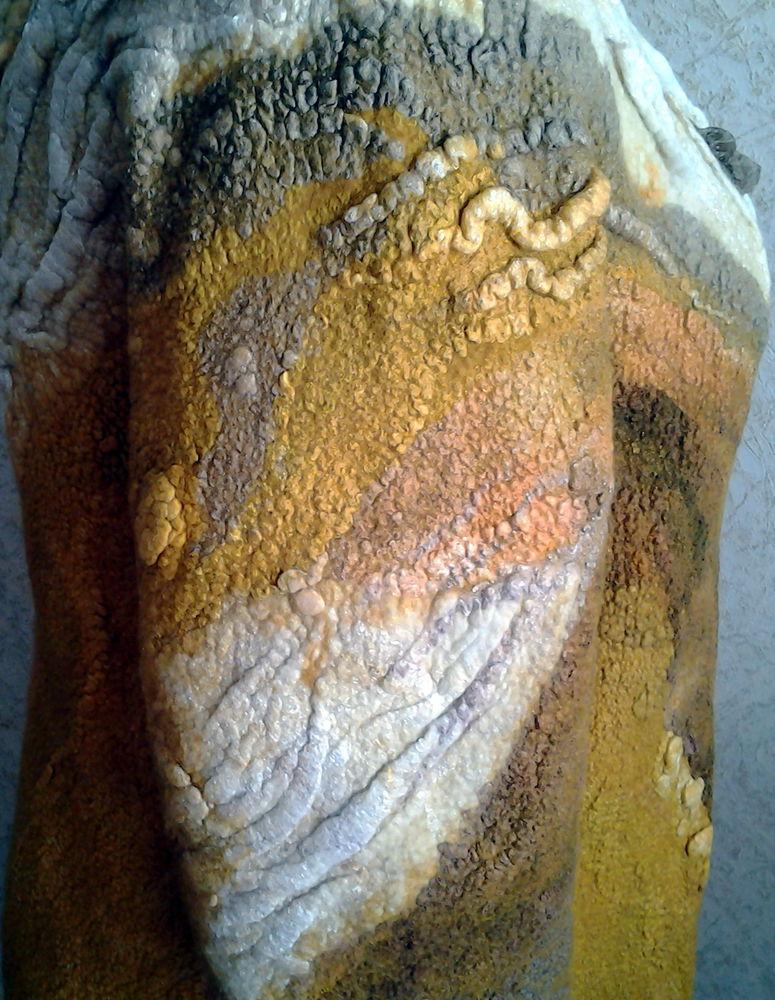 Как мы с Ириной арт-пальто валяли., фото № 10