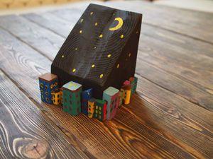Видео мастер-класс: создаем вместе с ребенком уютный и необычный предмет интерьера «Ночной город». Ярмарка Мастеров - ручная работа, handmade.