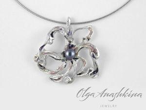 Новый серебряный кулон Frose или еще одна романтическая история   Ярмарка Мастеров - ручная работа, handmade