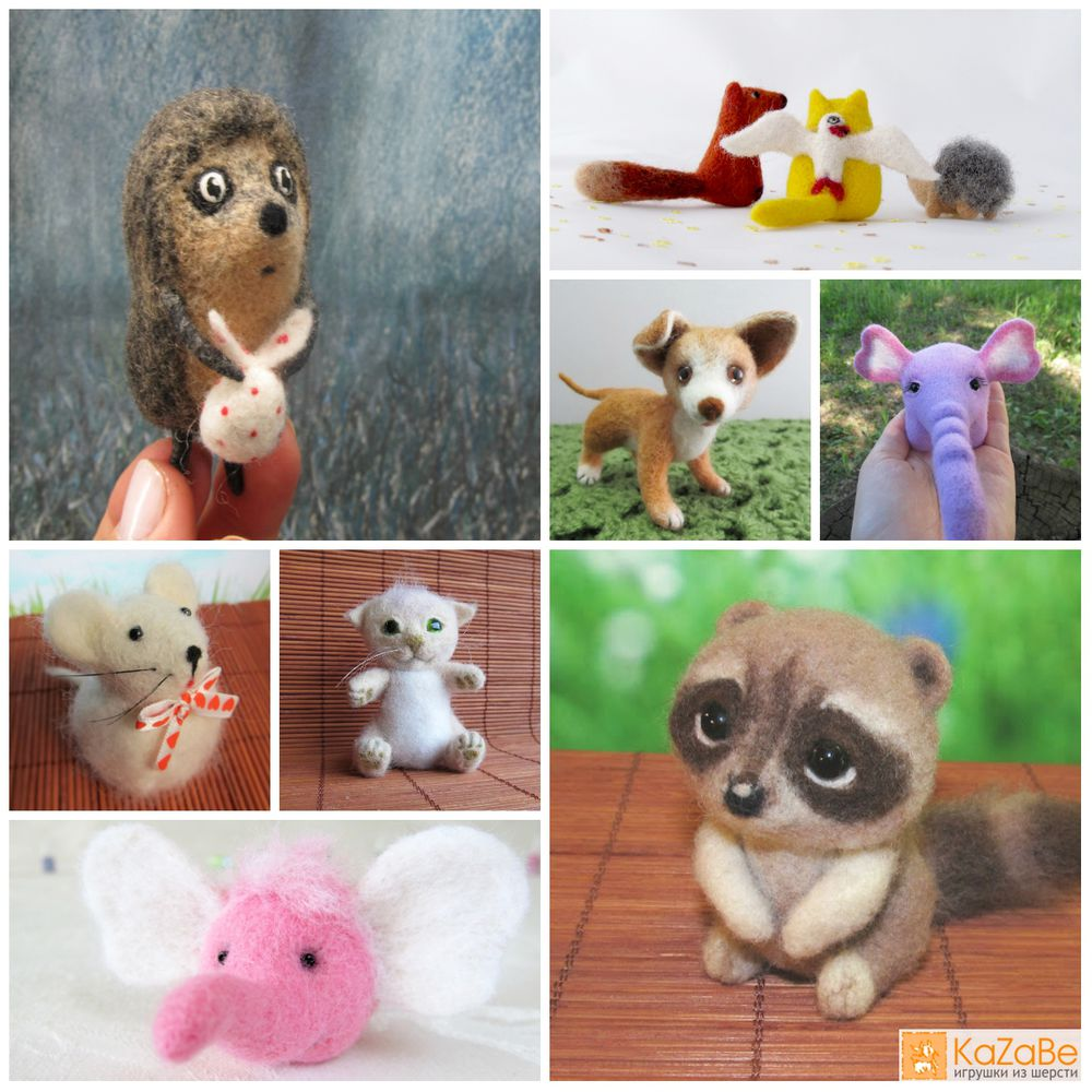 story, kazabe, казабе, валяние, детство, игрушки, мимими, игрушки на заказ, скоро новый год, подарок, ёжик в тумане, лисёнок, кот, слон, мышка, неваляшка, енот, котик