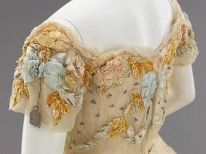 Шикарная вышивка от Jacques Doucet на бальном платье 1902 года. Ярмарка Мастеров - ручная работа, handmade.