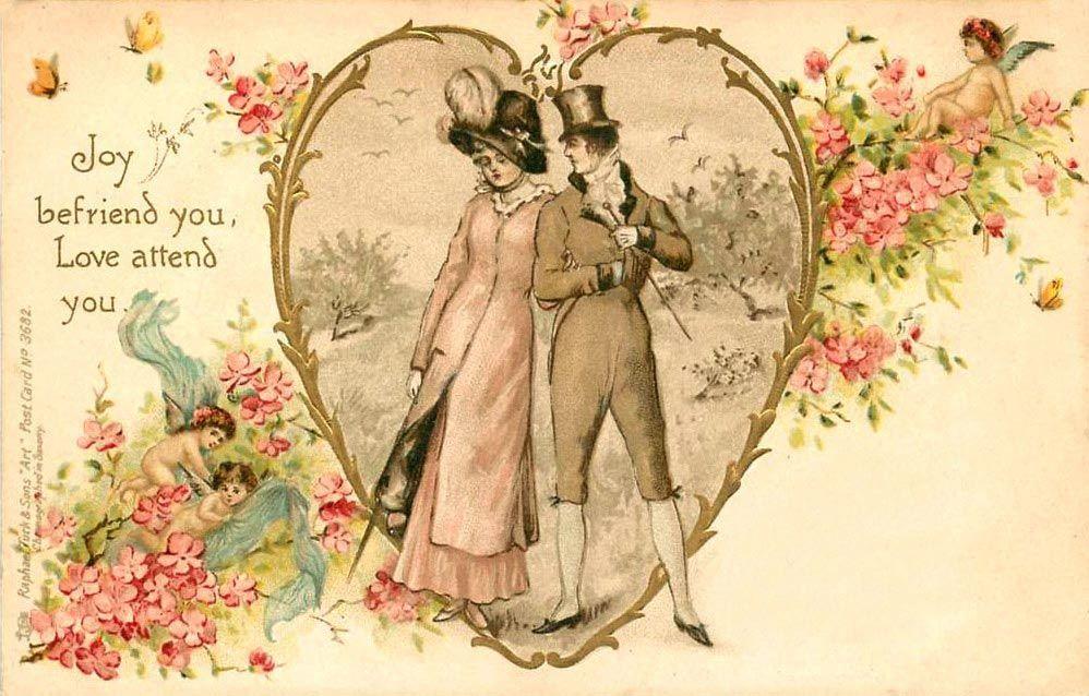 Ретро открытка любовь