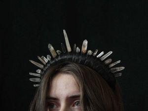 Корона принцессы подземного царства. Ярмарка Мастеров - ручная работа, handmade.