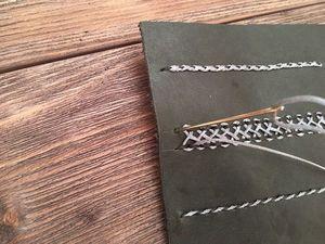 Декоративные швы по коже. Часть 3: вьюнок. Ярмарка Мастеров - ручная работа, handmade.