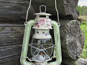 МК по декору керосиновой лампы