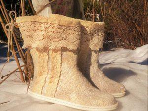 МК по валянию демисезонной обуви из шелка и шерсти   Ярмарка Мастеров - ручная работа, handmade