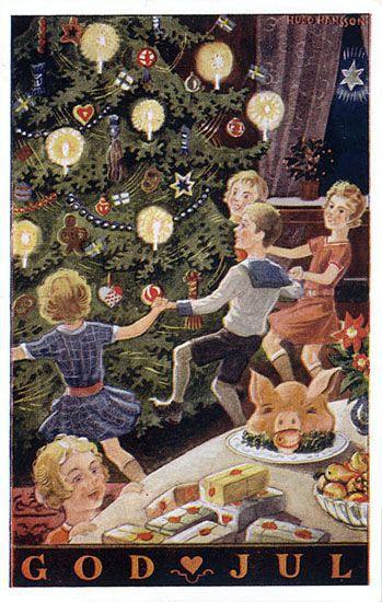 Julkort av Hugo Hansson (Frn 1920- eller 1930-talet)