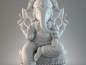 Ганеша — бог мудрости и благоразумия. Ярмарка Мастеров - ручная работа, handmade.