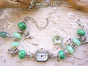 Assembling Tropical Bracelet Watches in the Pandora Style. Livemaster - handmade