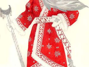 Русские традиции. Посох Дедушки Мороза. | Ярмарка Мастеров - ручная работа, handmade