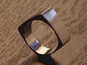Делаем необычное серебряное кольцо квадратной формы. Ярмарка Мастеров - ручная работа, handmade.