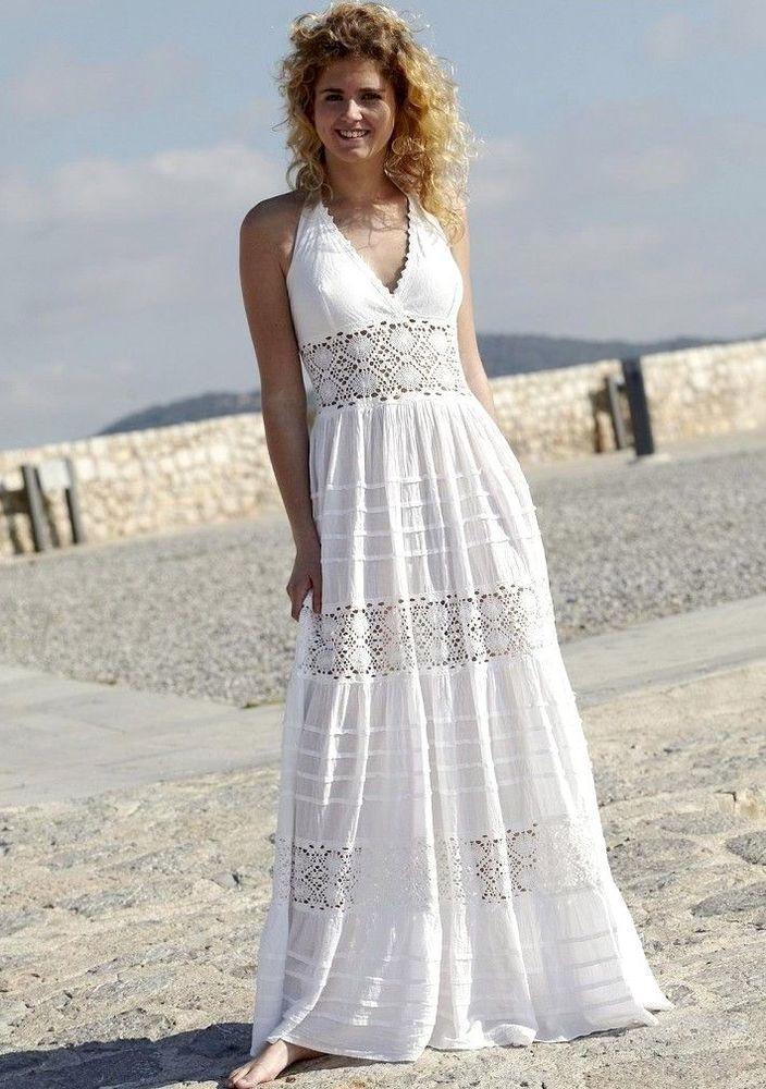 Белое бохо, или Шикарная одежда для королевы летнего пляжа, фото № 55