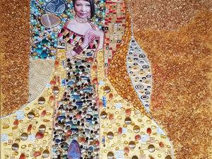 Портрет по фото на заказ. Картина в подарок. Адель Блох-Бауэр. Климт. Ярмарка Мастеров - ручная работа, handmade.