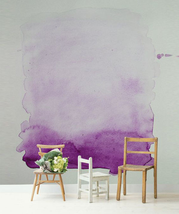 The Tenderest Interior: Abstract Watercolours on Modern Wallpapers, фото № 5