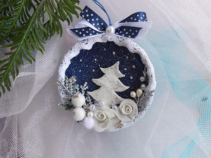 How to Make a Christmas Decoration of a Jar Lid. Livemaster - handmade