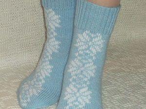 скидки на вязаные носочки. Ярмарка Мастеров - ручная работа, handmade.