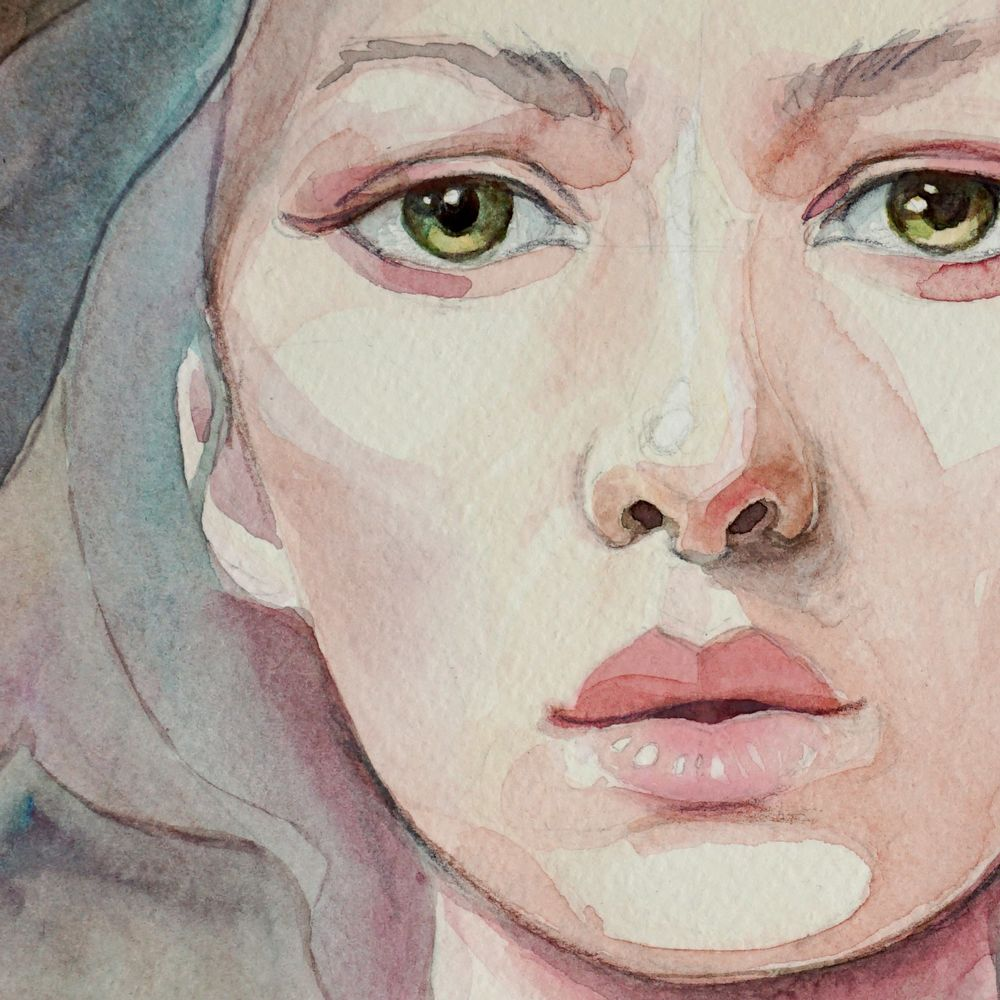 портрет акварелью пошагово фото пота
