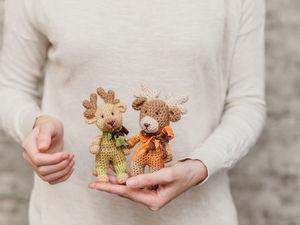 Новая серия парных вязаных брелочков животных. Ярмарка Мастеров - ручная работа, handmade.