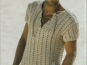 Вязание: идеи для мужской рубашки на лето. Ярмарка Мастеров - ручная работа, handmade.