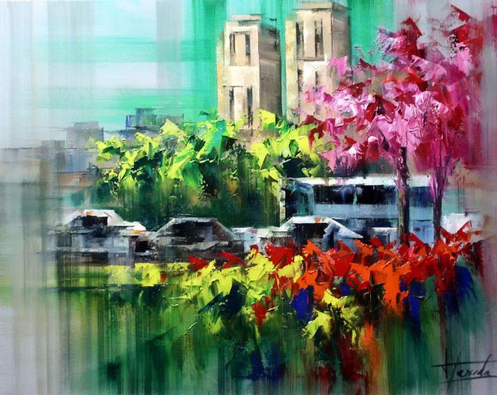 Особое очарование картин испанского художника Josep Teixido: смелая игра цвета и ничего лишнего   859b4b0733c93e486c7d428902wn
