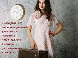 Розыгрыш войлочных брошей-цветков от Александры Широковой (SHIROKOVA) | Ярмарка Мастеров - ручная работа, handmade