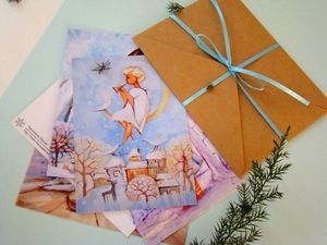 Новогодний набор открыток от магазина