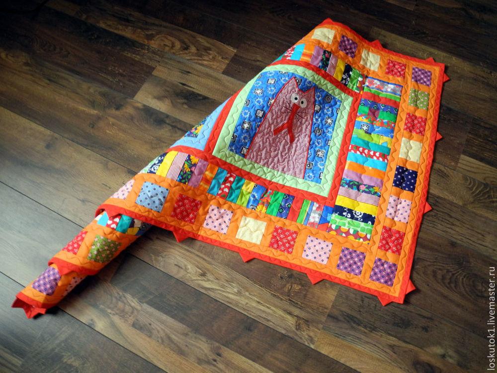 подарок ребенку, лоскутное одеяло, покрывало лоскутное