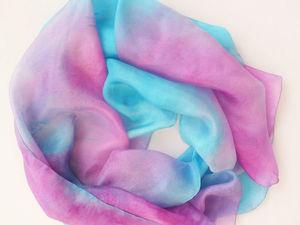 Платки из натурального шёлка на Новом аукционе у Любы до 19 ноября купить дешевле. Ярмарка Мастеров - ручная работа, handmade.