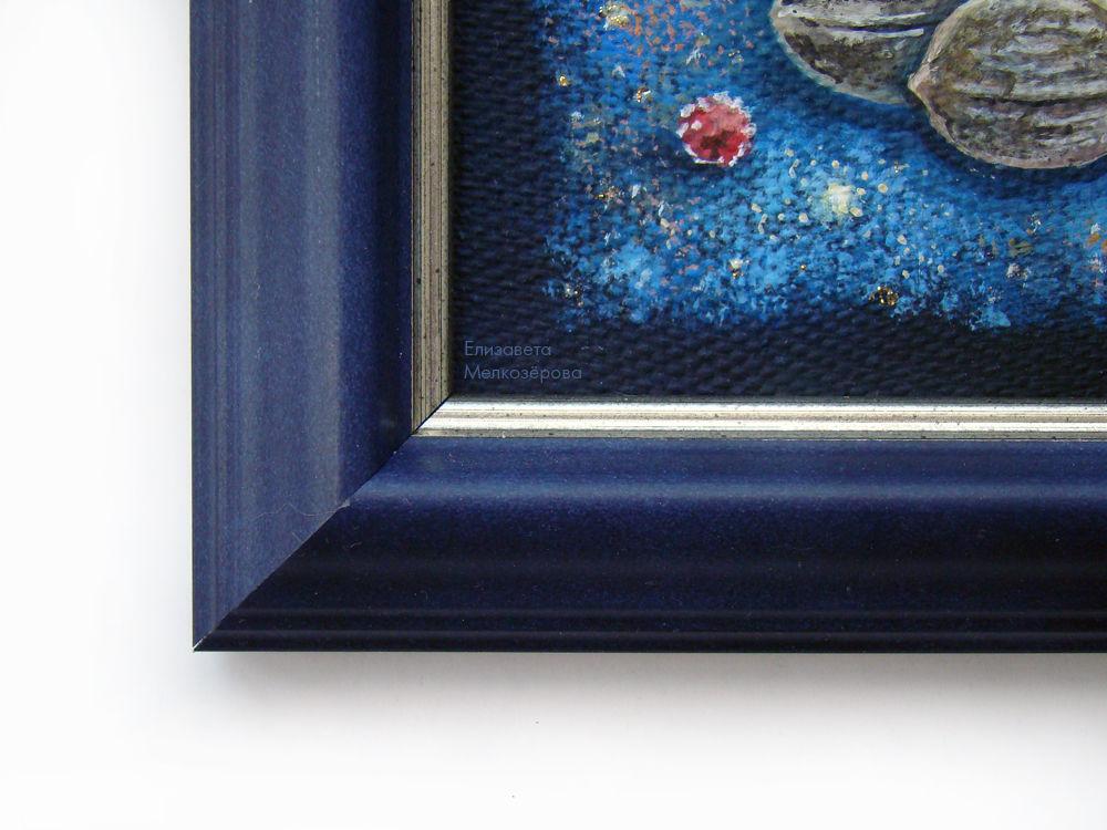 темно-синий синий, поздравление, картина живопись акрил, волшебство сказка