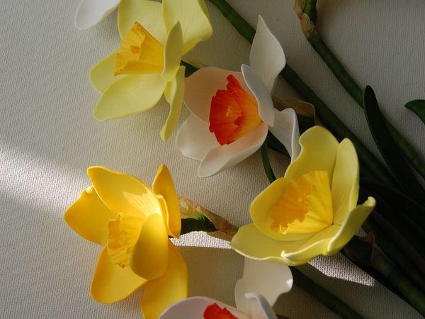 Новинка нашей студии! Цветы из фоамирана: Весенний нарцисс!   Ярмарка Мастеров - ручная работа, handmade