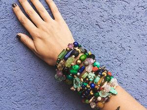 Летние яркие браслеты из натуральных камней. Ярмарка Мастеров - ручная работа, handmade.