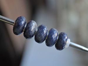 Натуральный синий авантюрин для Pandora и Trollbeads в наличии. Ярмарка Мастеров - ручная работа, handmade.