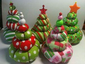 Оригинальные новогодние ёлочки из ткани. Ярмарка Мастеров - ручная работа, handmade.