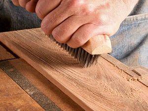 Обработка древесины. Браширование. Ярмарка Мастеров - ручная работа, handmade.