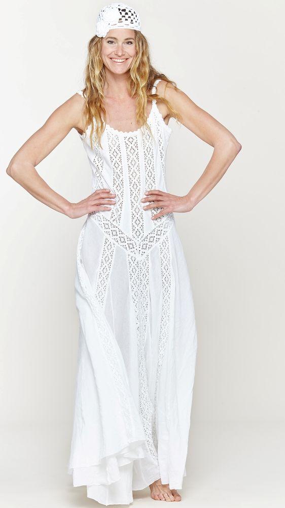 Белое бохо, или Шикарная одежда для королевы летнего пляжа, фото № 85