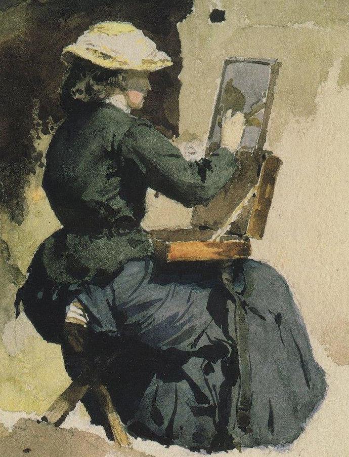 художница, женщине, зрение, цвет
