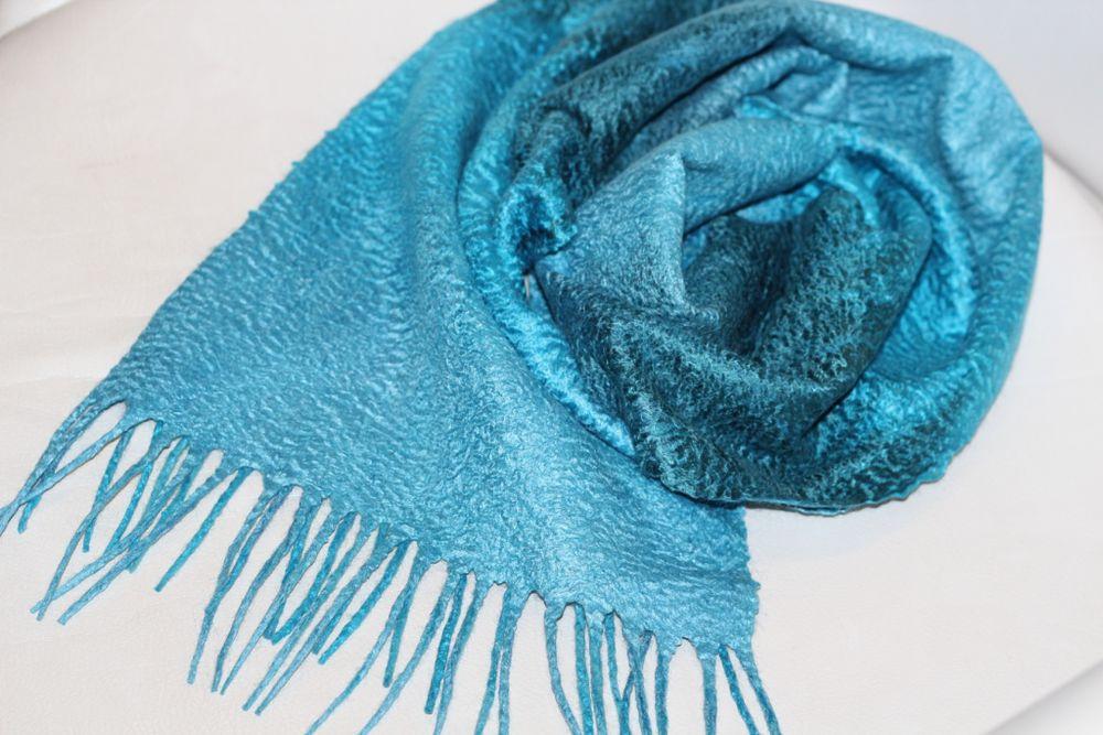 мк по валянию, войлок для новичков, мк по шарфам, шарф женский