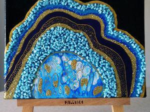 "Рисуем ""Срез камня"". Ярмарка Мастеров - ручная работа, handmade."