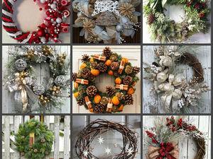 25 + 1 идея новогодних и рождественских венков | Ярмарка Мастеров - ручная работа, handmade