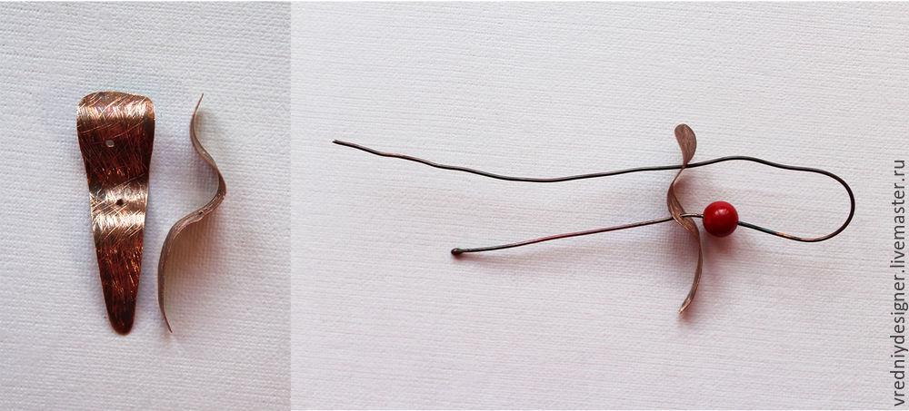 сережки wire work