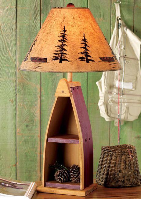 Canoe Shelf Table Lamp