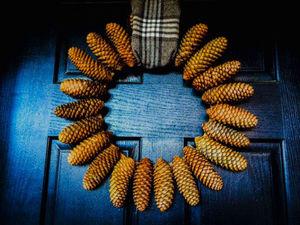 Как сделать самый простой новогодний венок. Ярмарка Мастеров - ручная работа, handmade.