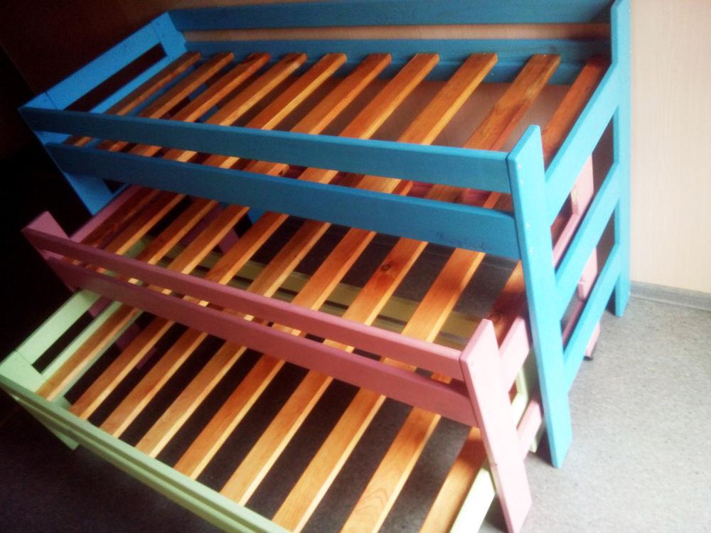 кровать детская, детям, детская, оформление детской, интерьер детской, дизайн детской, кровать выдвижная, кровать раздвижная, кровать трехъярусная, кровать из дерева