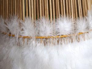 Мастерим абажур с перьями птиц. Ярмарка Мастеров - ручная работа, handmade.