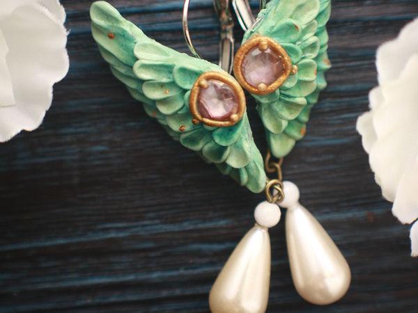 Новинка!!!! Wings. Серьги из полимерной глины | Ярмарка Мастеров - ручная работа, handmade