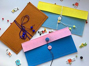 Great Idea How to Make a Felt Envelope for Money. Livemaster - handmade