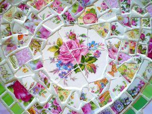 Черепки как доброе воспоминание о прошлом, или Новая  жизнь разбитой посуды. Ярмарка Мастеров - ручная работа, handmade.