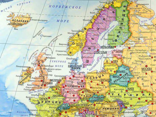 Картинная карта-мозаика Европы | Ярмарка Мастеров - ручная работа, handmade